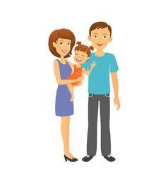 Mother and father with baby Happy family vector