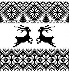 Norwegian pattern vector image