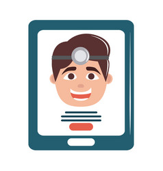 online doctor smartphone app health care flat vector image
