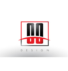 oo o logo letters with red and black colors and vector image