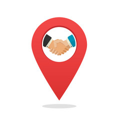 partner or partnership office position location vector image