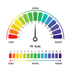 Ph scale with colour code vector