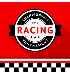 Racing badge 09 vector