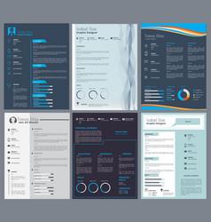 Resume or curriculum vitae design template vector