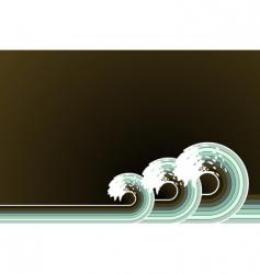 Retro splashing waves vector