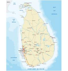 Road map sri lanka country vector