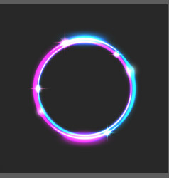 round glowing frame bright futuristic with the vector image