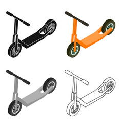 scooter icon in cartoon style isolated on white vector image