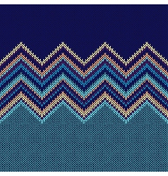 Seamless Ethnic Geometric Knitted Pattern vector