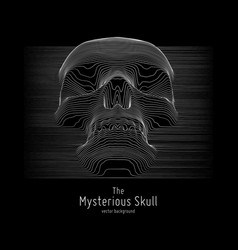 Skull constructed with lines mysterious vector