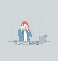 stress frustration depression fear business vector image