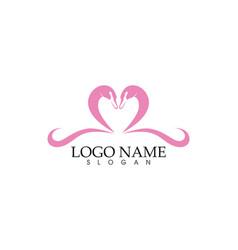 Swan logoand symbols icons template vector