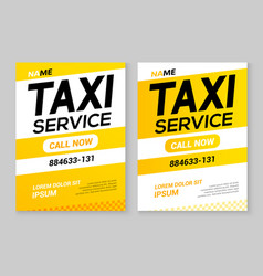 Taxi service flyer layout template car vector