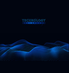 technology background with connecting particles vector image