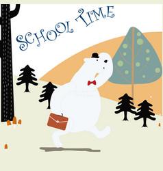 Teddy bear back to school vector