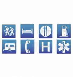 traffic signs icon set vector image