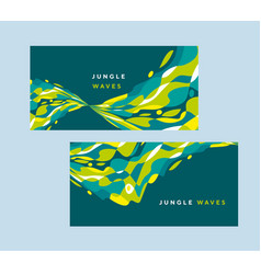 tropical colors abstract wavy curve design element vector image