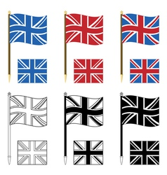 union jacks vector image
