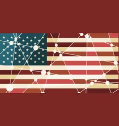 usa flag concept vector image
