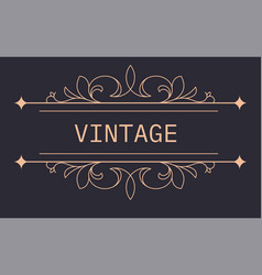 vintage banner with floral ornaments and arrows vector image