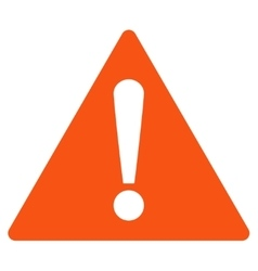 Warning flat orange color icon vector