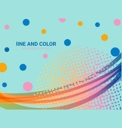 wavy lines and dots background abstract design vector image
