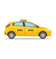 Yellow taxi car vector