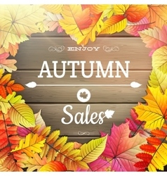 Autumn sale typography poster EPS 10 vector image vector image
