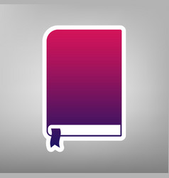 book sign purple gradient icon on white vector image