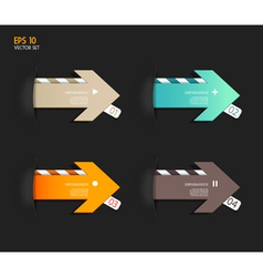 Four colored paper arrows vector image vector image