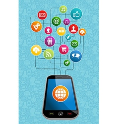 Global social media mobility vector image