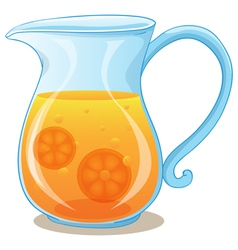 A pitcher of orange juice vector image