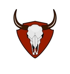 Cow Skull Wild West vintage Label vector image