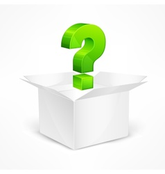 Question marks in box vector image vector image