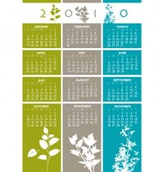 2010 floral calendar vector image vector image