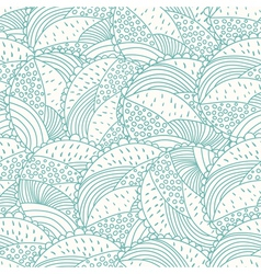 Abstract doodle floral seamless pattern vector image vector image