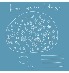 Cover with Hand drawn Icons for your Ideas vector image