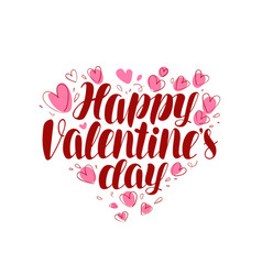 happy valentine s day greeting card or banner vector image