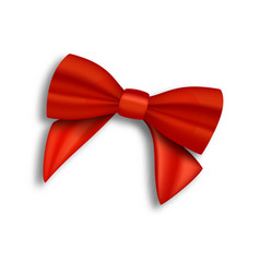 realistic red ribbon isolated vector image vector image