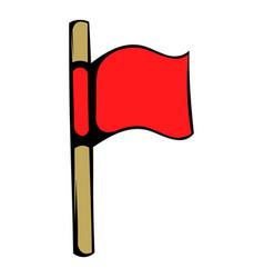 red flag icon icon cartoon vector image