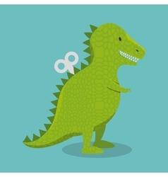 rex dinosaur toy icon vector image