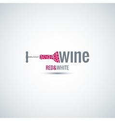 wine cellar bottle background vector image