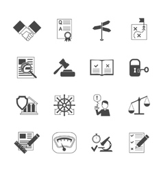 Legal compliance icons set vector