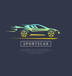modern logo sports cars vector image