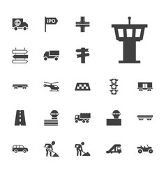 22 traffic icons vector