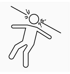 Assassination icon vector