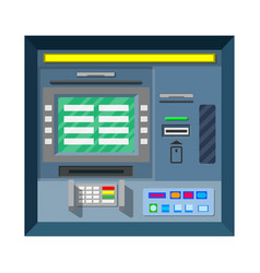 bank atm automatic teller machine vector image