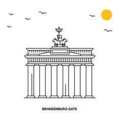 Brandenburg gate monument world travel natural vector