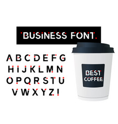 business modern alphabet font capital letter vector image