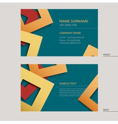 Business name card template vector